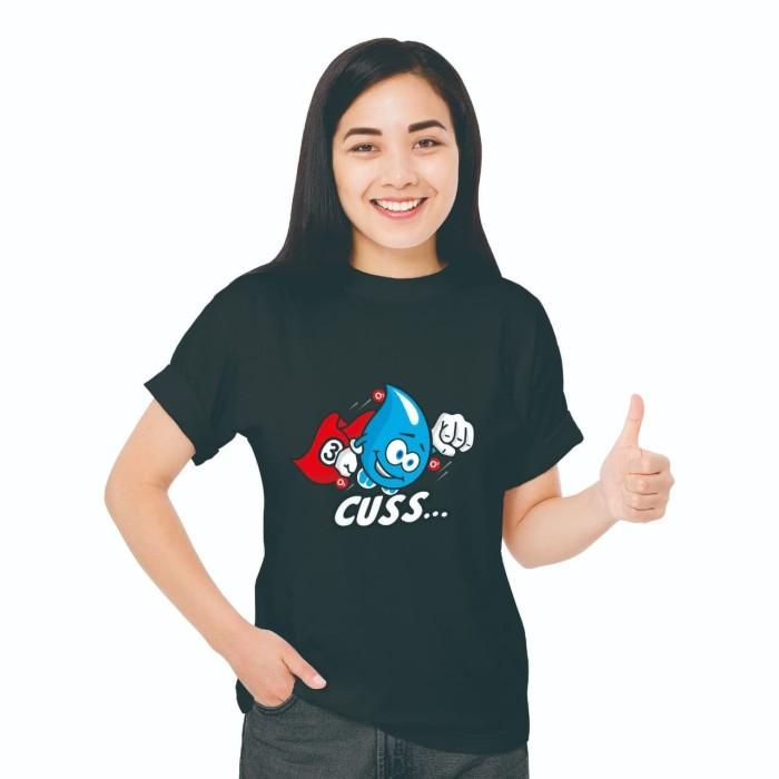 Foto Produk Baju Kaos Atasan T-Shirt Cowok Distro Fashion Wanita Black Edition OTW - XS dari Air Minum Biru