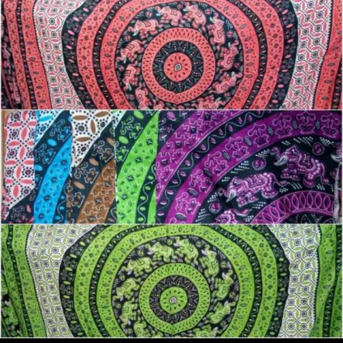 Jual kain pantai Bali motif gajah random - Jakarta Barat