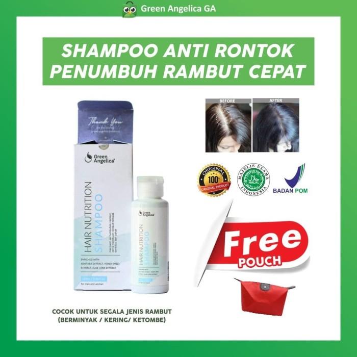 Foto Produk Shampoo Penumbuh Rambut Botak Super Cepat Green Angelica BPOM - 100 ml dari Green Angelica GA