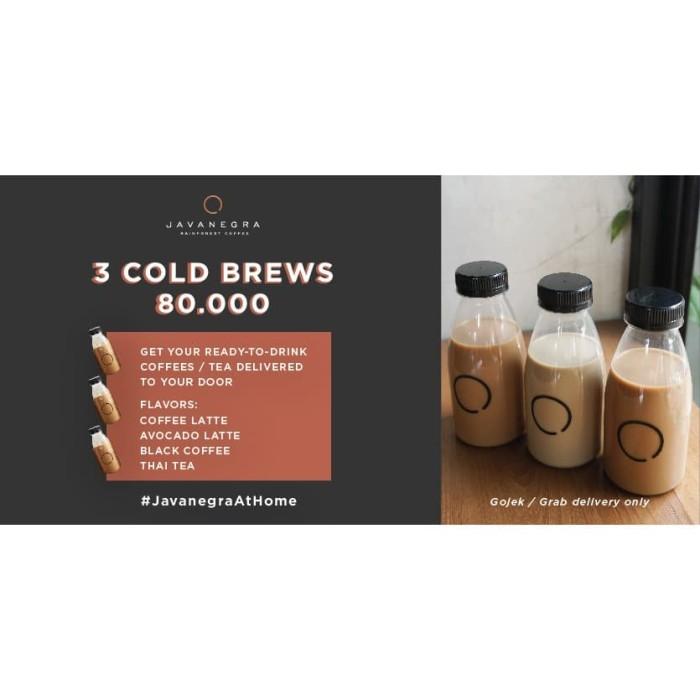 Foto Produk Promo 3 Cold Brews Javanegra Khusus untuk pengiriman Grab dan Go ojek - Mix 2 dari Javanegra Coffee