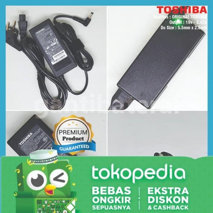 Foto Produk Adaptor Charger Toshiba Satellite L730 L735 L740 L745 C800 19V 3.42A dari gantibaterai