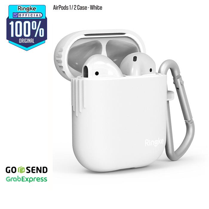 Foto Produk Ringke Casing Apple Airpods 1 / 2 Case Softcase Premium TPU Anti Slip - White dari Official Ringke Partner