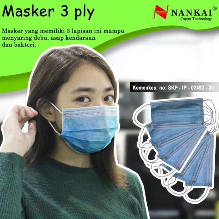 Foto Produk Masker 3 Ply Sekali Pakai (50 Pcs) Nankai dari Nankai Tools