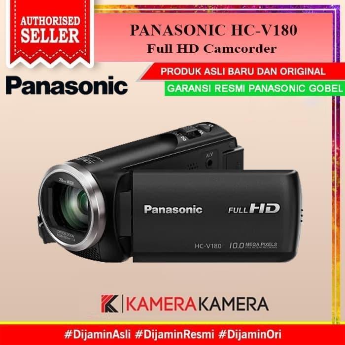 Foto Produk PANASONIC HC-V180 Handycam 28mm WIDE 10.0MP GARANSI RESMI dari kamerakamera