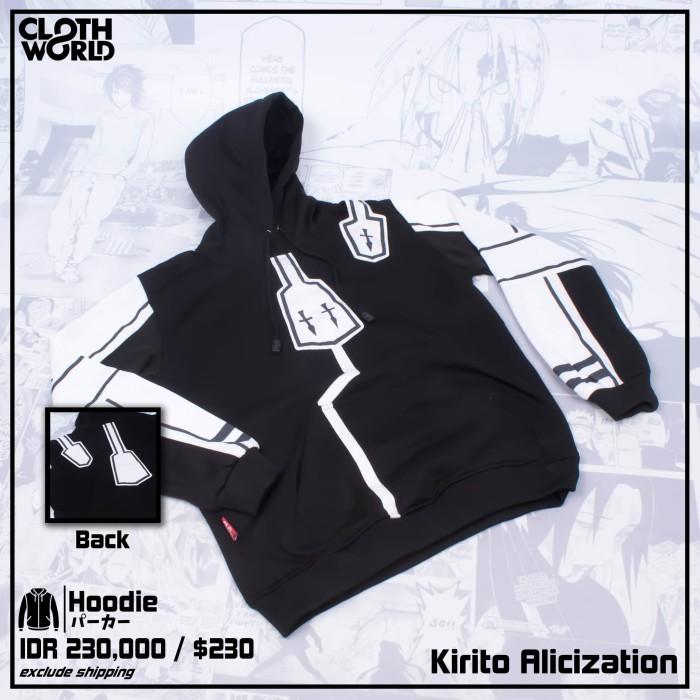 Foto Produk Hoodie Kirito Alicization Anime Sword Art Online Jaket Outerwear - S dari Clowor AnimeManga Distro