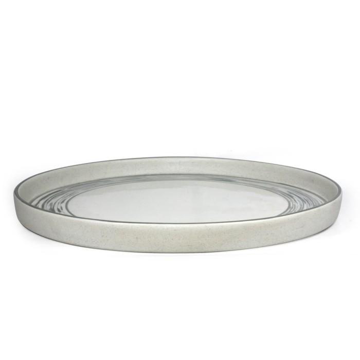 Foto Produk Artisan Ceramic | Charcoal Flat Charger Plate | Piring Besar Keramik dari Artisan Ceramic