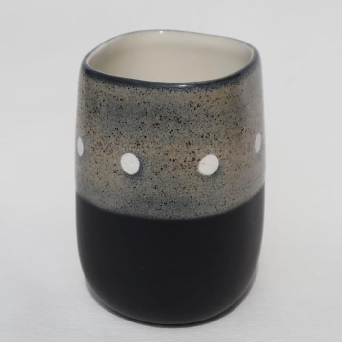 Foto Produk Artisan Ceramic | Cream/Black Ocha Cup | Gelas Ocha Keramik dari Artisan Ceramic