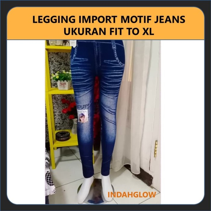 Jual Celana Leging Panjang Wanita Jeans Levis Legging Panjang Motif Jeans Kota Depok Indahglow Tokopedia