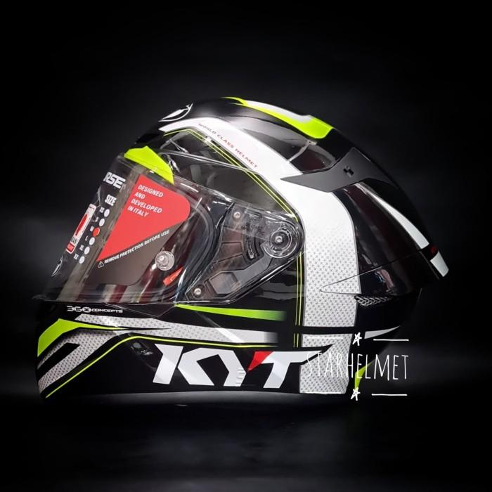 Foto Produk KYT TT Course Grand Prix Black-Yellow - Size L dari StarHelmet