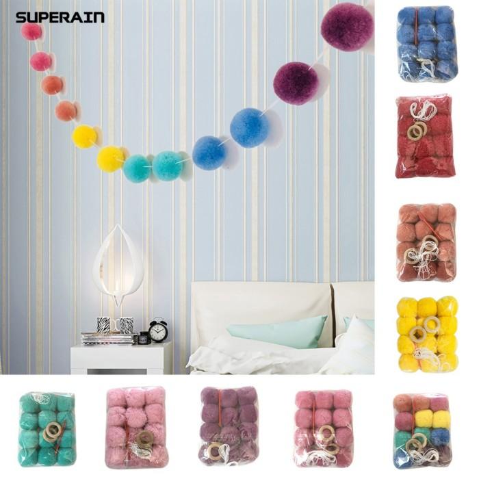 Jual Superain Plush Balls Wall Hanging Decoration Kids Room Classroom Jakarta Barat Cherudim Tokopedia