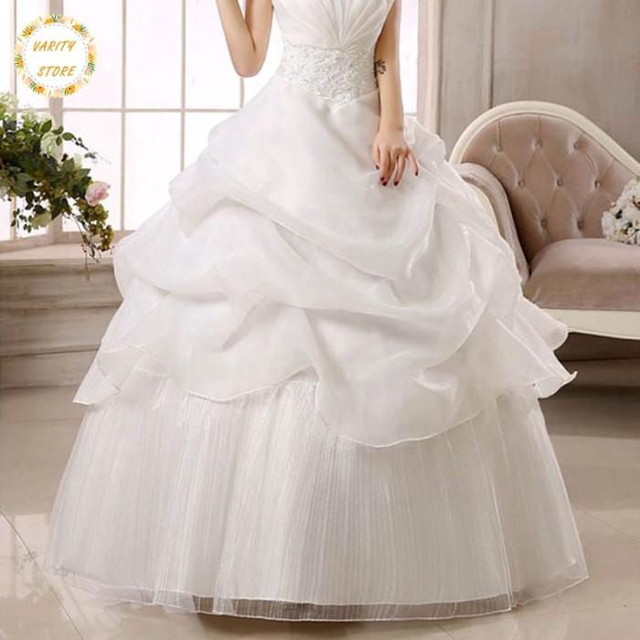 Jual Vs Bridal Ball Gown Wedding Dress Off Shoulder Strapless Lace Up Kab Malang Myeshaa Online Shop Tokopedia