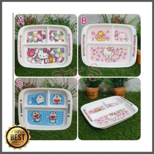Foto Produk Jual Piring Makan Sekat Melamin Hello Kitty Doraemon Murah dari bella auliana