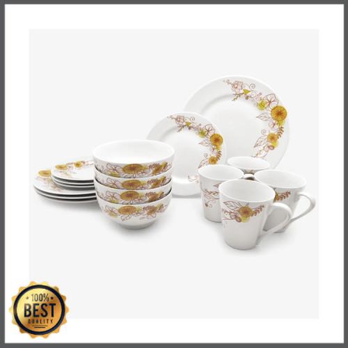 Foto Produk Unik Piring Makan Set Corner Isi 16 Diskon dari bella auliana