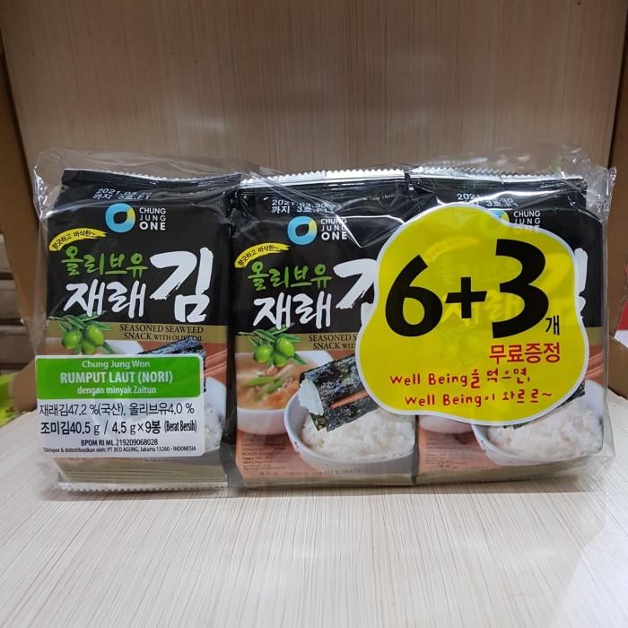 Foto Produk Rumput Laut (Nori) Chung Jung One 6+3 dari Go Sehat Store