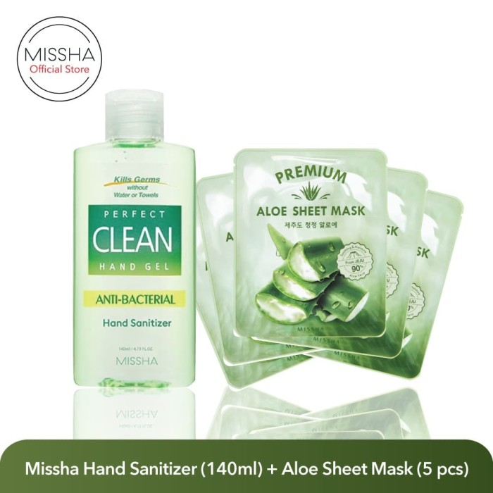 Foto Produk Missha Paket Hand Sanitizer (140ml) + Aloe Sheet Mask (5 pcs) dari Missha Indonesia
