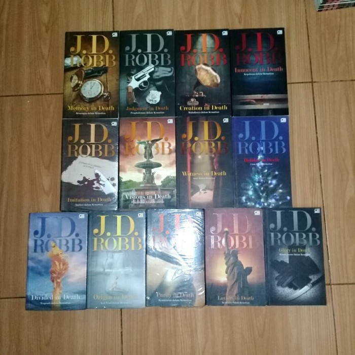 Foto Produk novel serial kematian karya jd robb sebanyak 13 judul dari haldom maradona