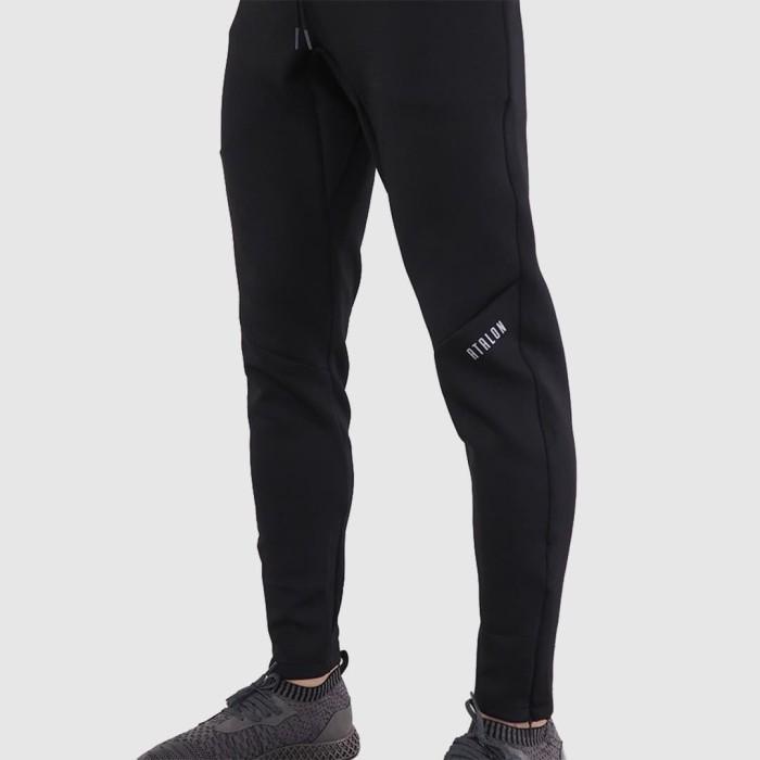 Foto Produk Atalon Performance Jogger - Celana Jogger Training Gym Lari Pria - Hitam Polos, L dari Atalon Sportswear