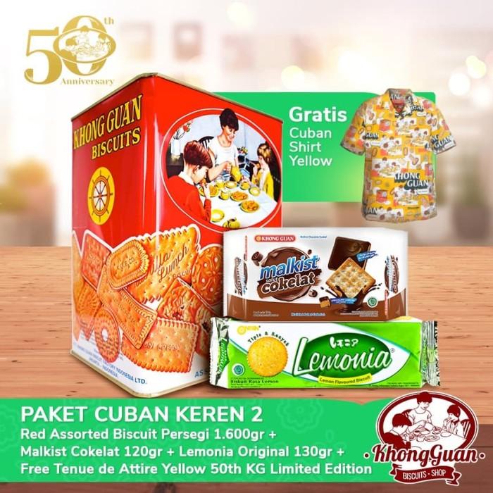 Foto Produk Paket 50th Khong Guan 100k (2pcs) Free Cuban Shirt Yellow dari Khong Guan Biscuits Shop