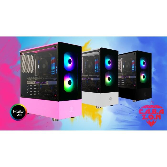 Jual Casing Cube Gaming Cabazon Atx Free 2 Pcs Rainbow Rgb Fan Tempered Putih Kota Makassar Ir Computer Tokopedia
