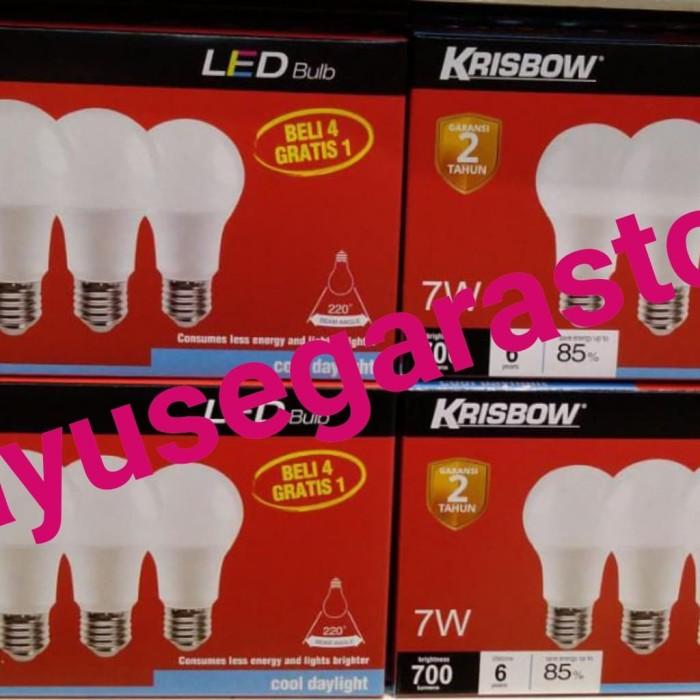 Jual Lampu Led Krisbow Paket 5 Pcs 7 Watt Bohlam Led Putih Kota Tangerang Selatan Bayusegara999 Tokopedia