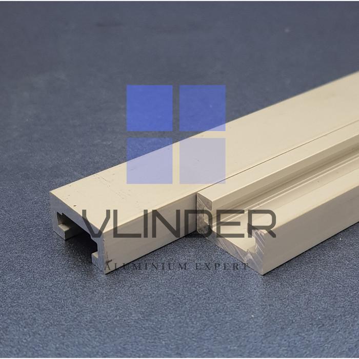 Foto Produk Aluminium Mini T-Track 19 mm for Miter, Router and Table Saw Jig - Silver, 10 cm dari Vlinder