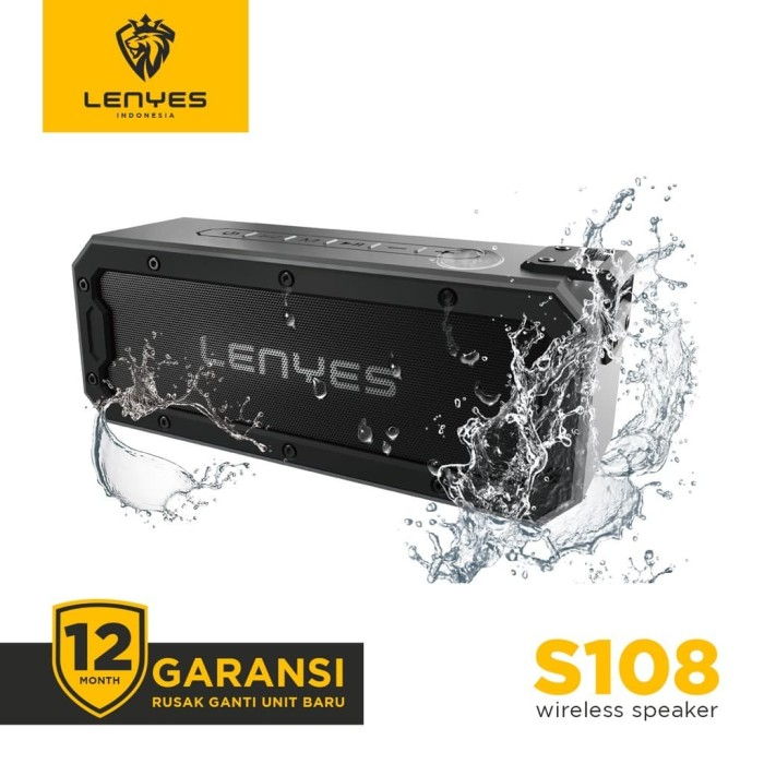 Foto Produk LENYES S108 40W WATERPROOF OUTDOOR WIRELESS HIFI SPEAKER HEAVYBASS - Hitam dari LENYES INDONESIA