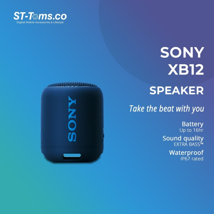 Foto Produk Sony SRS- XB12 / XB 12 Extra Bass Portable Bluetooth Speaker - Blue dari ST-Toms.co