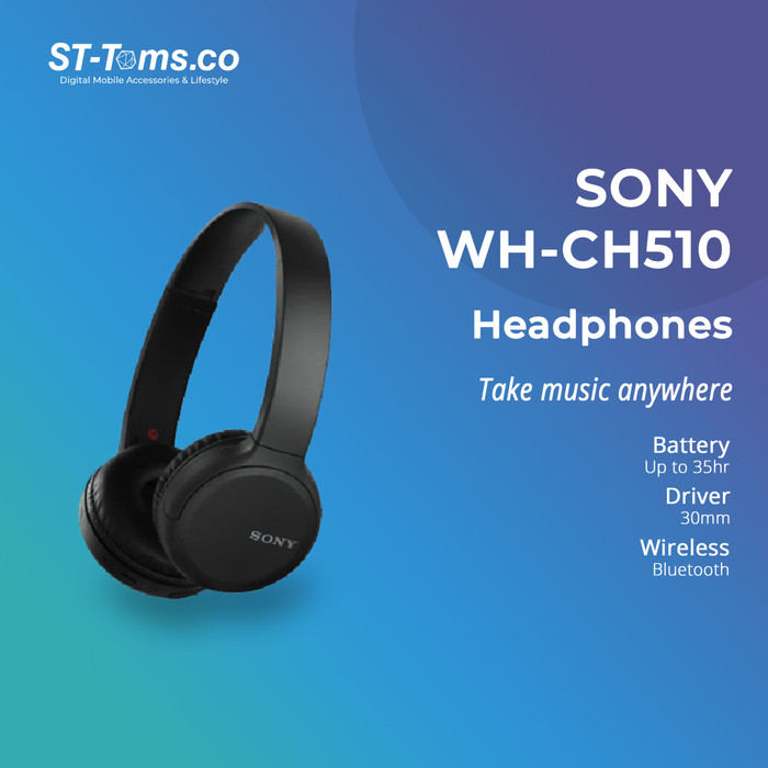 Foto Produk Sony WH-CH510 / WH CH510 / CH 510 Wireless Headphones - Hitam dari ST-Toms.co