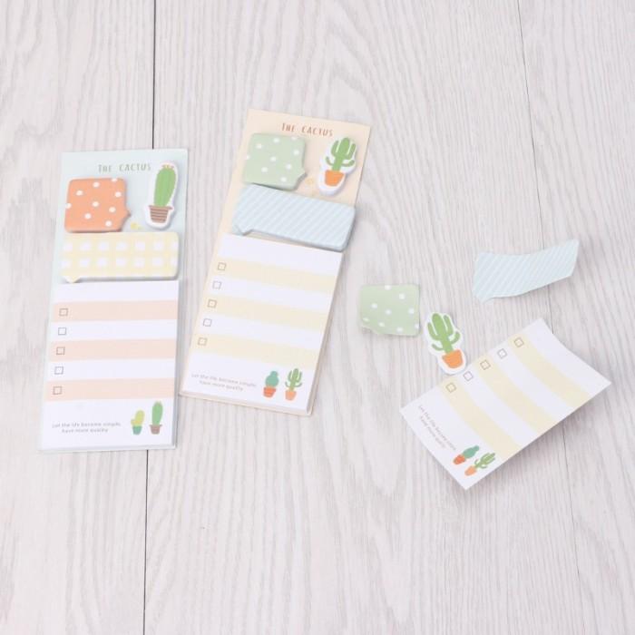 Jual Run 2pcs Cute Cactus Sticky Note Office Supplies Bookmark Paper Kota Bandung Flamingo13 Tokopedia