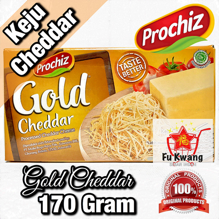 Foto Produk Keju Prochiz Gold Cheddar Cheese Olahan 170 gram dari Fu Kwang Mart