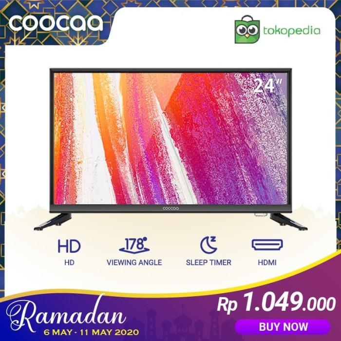 Foto Produk COOCAA LED TV 24 inch - HD Panel - USB/HDMI/VGA - Slim (Model : 24D3A) dari Coocaa Official Store