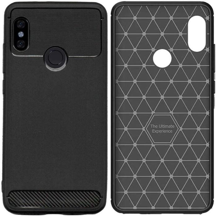 Foto Produk Armor Thin TPU Case Xiaomi RedMi Note 5 Pro - Casing Black Soft Cover dari Logay Accessories
