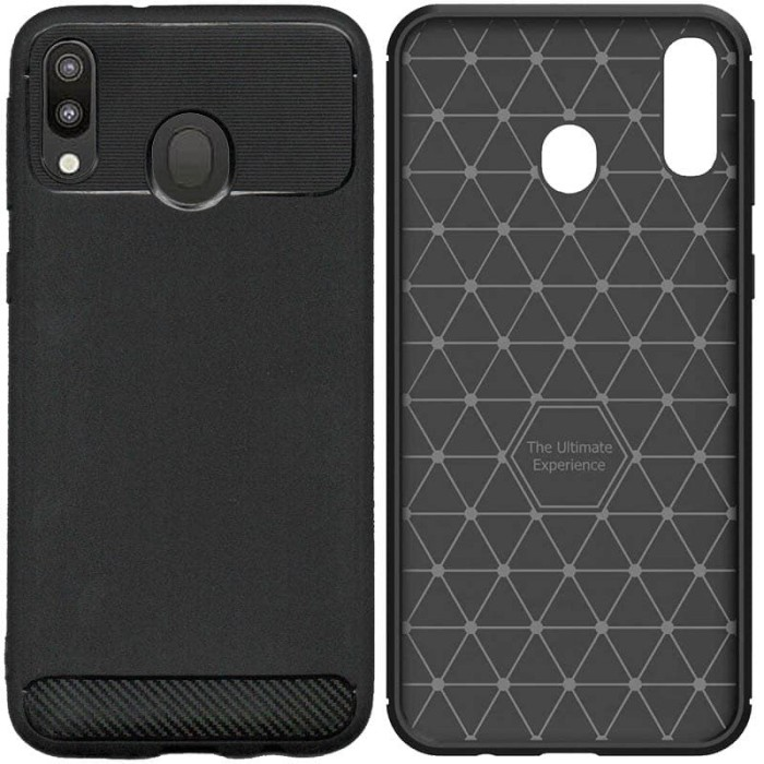 Foto Produk Armor Thin TPU Case Samsung Galaxy M20 - Casing Black Soft Cover Hitam dari Logay Accessories
