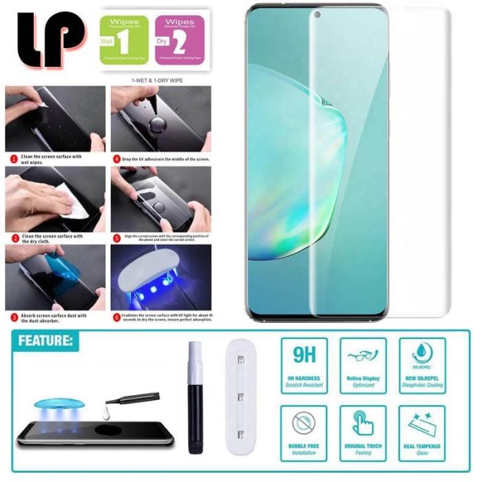 Foto Produk LP UV Liquid Glue 3D Tempered Glass Samsung Galaxy S20 - Kaca Anti Ori dari Logay Accessories