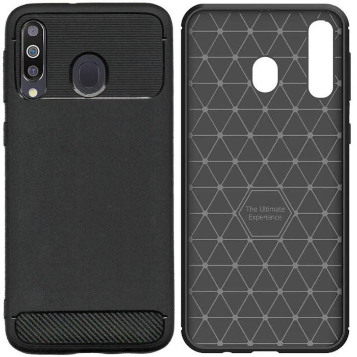 Foto Produk Armor Thin TPU Case Samsung Galaxy M30 - Casing Black Soft Cover Hitam dari Logay Accessories