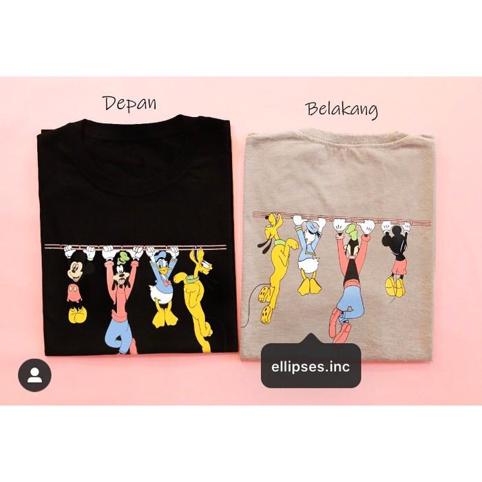Foto Produk Tumblr Tee / T-Shirt / Kaos Wanita Lengan Pendek Mickey & Friends - Hitam, XL dari Ellipses.inc