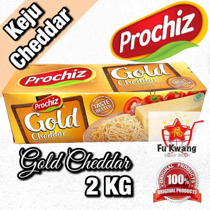 Foto Produk Keju Prochiz Gold Cheddar Cheese Olahan 2 kg dari Fu Kwang Mart