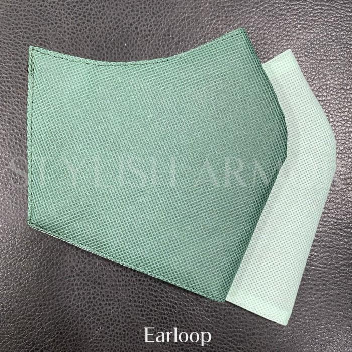 Foto Produk Masker Stylish Armor Silver Antimicrobial 3ply earloop Green 12pcs - M dari STYLISH ARMOR