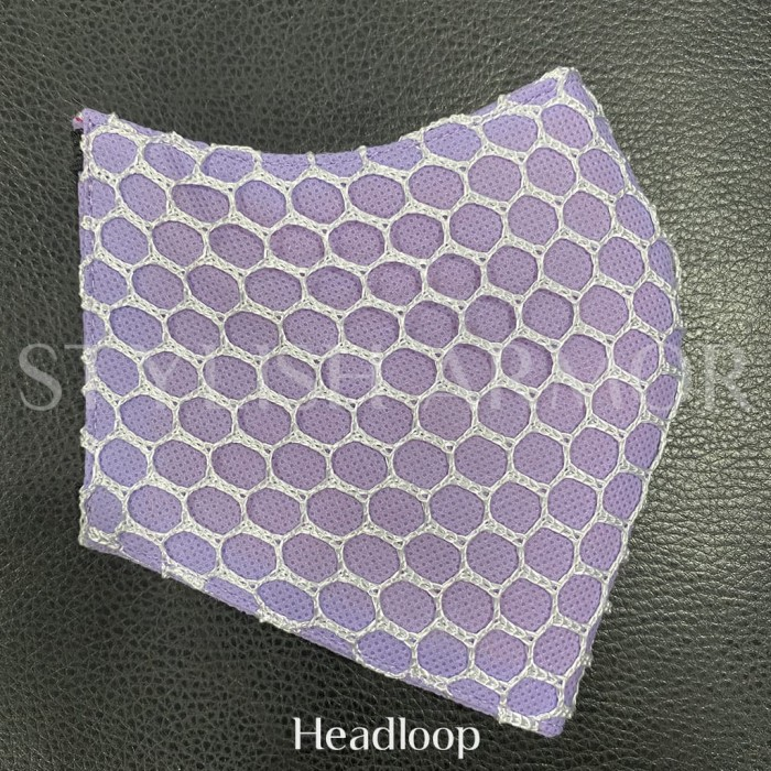 Foto Produk Masker Stylish Armor Silver Antimicrobial 3ply Hijab net Purple 12pcs - M dari STYLISH ARMOR