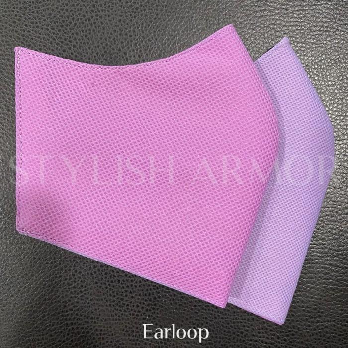 Foto Produk Masker Stylish Armor Silver Antimicrobial 3ply earloop Pink 12pcs - M dari STYLISH ARMOR