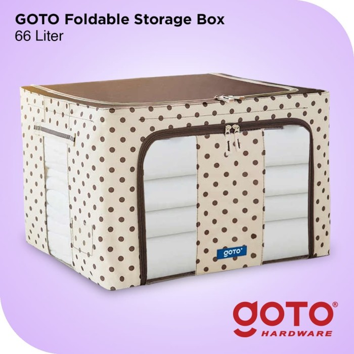 Foto Produk Storage Box 66 Liters Double Zipper Frame Baja Large Multifungsi - Biru dari GOTO Hardware