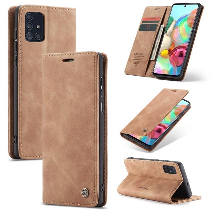 Foto Produk Samsung galaxy A51 2020 Flip Case Caseme Cover Leather Wallet Dompet - Maron dari Vinvend ACC