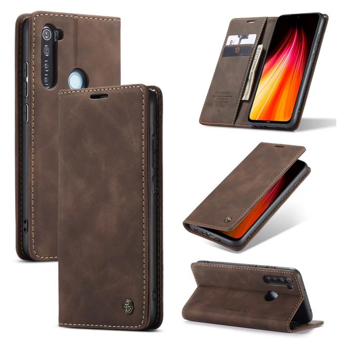 Foto Produk Xiaomi Redmi Note 8 Flip Case Caseme Cover Leather Wallet Dompet - Hitam dari Vinvend ACC