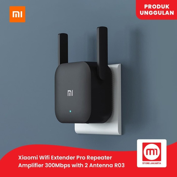 Foto Produk XIAOMI WIFI Repeater Pro Amplifier Extender Pro 300 Mbps INTER VERSION dari Mi Store Jakarta