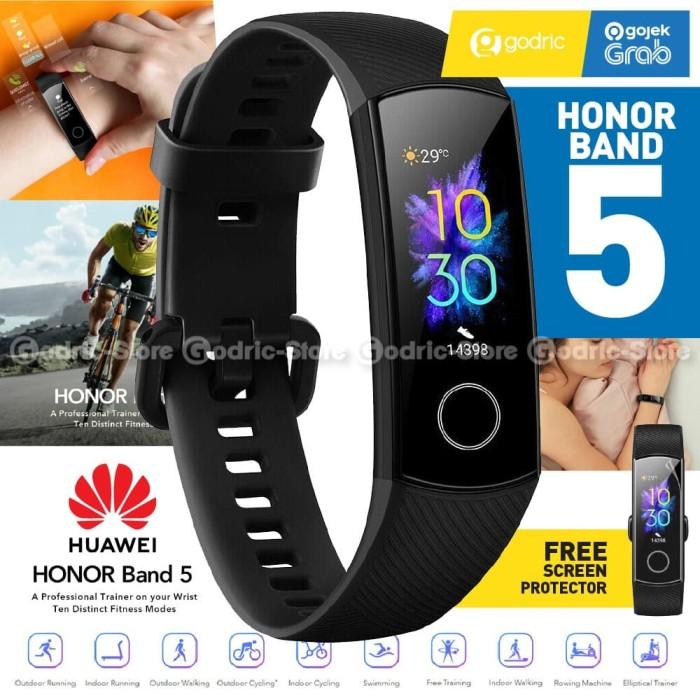 Foto Produk HUAWEI HONOR BAND 5 RESMI Smartband Alt Mi Band 4 Smartwatch AMOLED dari Godric Store