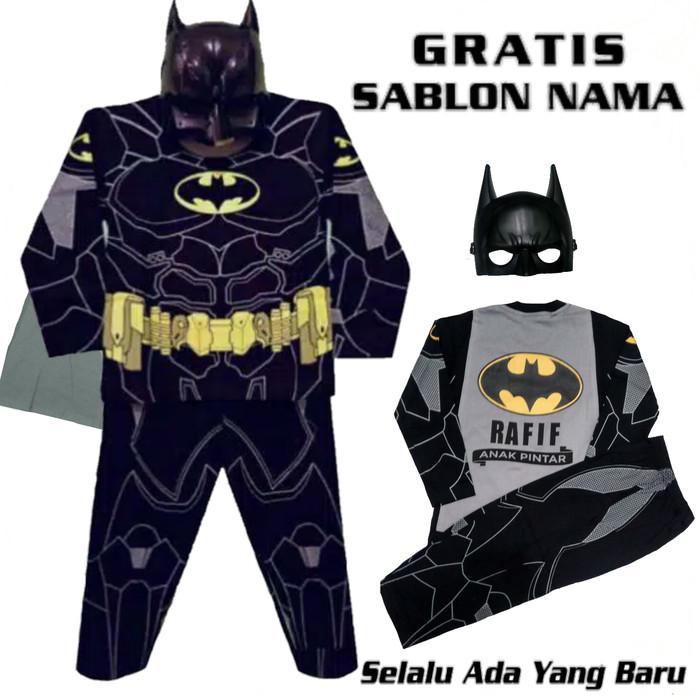 Foto Produk KOSTUM BATMAN DAN TOPENG GRATIS NAMA/KOSTUM SETELAN ANAK SUPERHERO dari Zidan Grosir