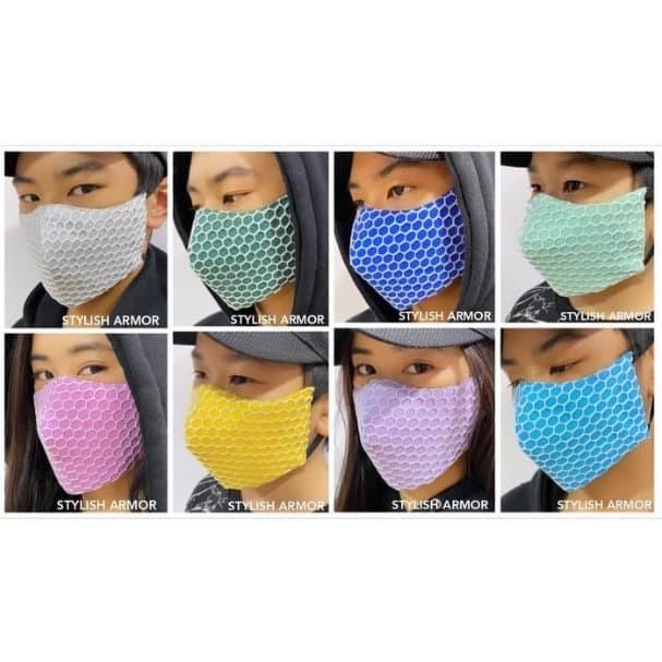 Foto Produk Paket Masker Stylish Armor Silver Antimicrobial 3ply earloop net 48pcs - M dari STYLISH ARMOR