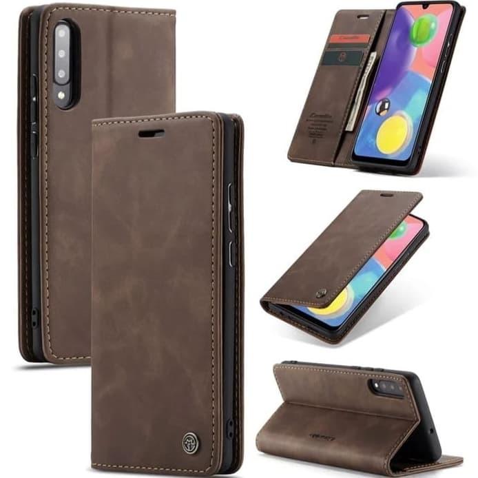 Foto Produk Samsung galaxy A50/A50S Flip Case Caseme Cover Leather Wallet Dompet - Coklat Muda dari Vinvend ACC
