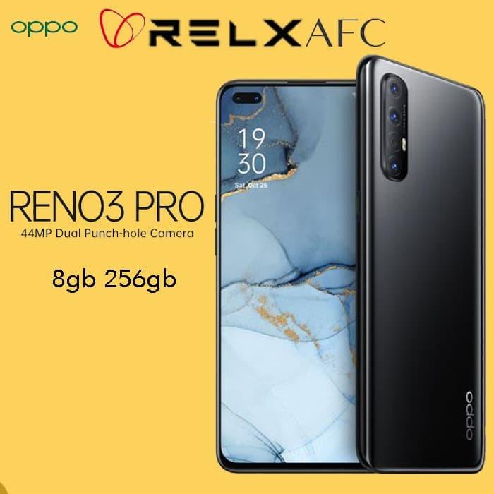 Foto Produk TERMURAH OPPO RENO 3 PRO 8GB 256GB 8 256 8/256 GB GARANSI RESMI HITAM dari Relx Afc Official
