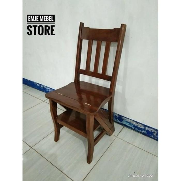 Jual Kursi Tangga Lipat Kayu Jati Kursi Perpus Kokoh Kab Semarang Xuan2020 Tokopedia